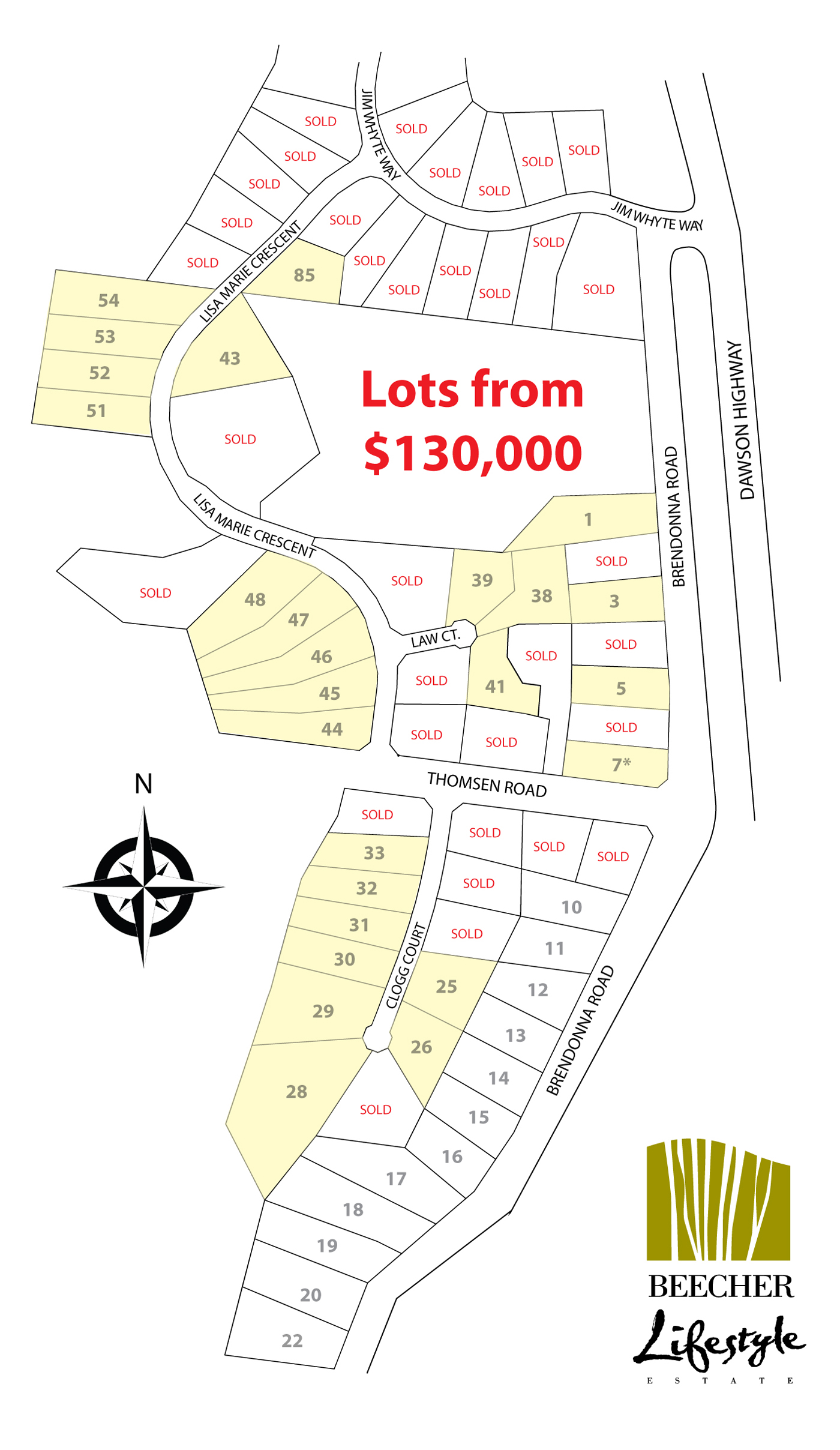 Lots For Sale Map